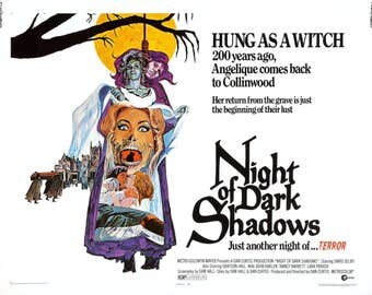 Night of Dark Shadows Movie POSTER (1971) Thriller/Drama