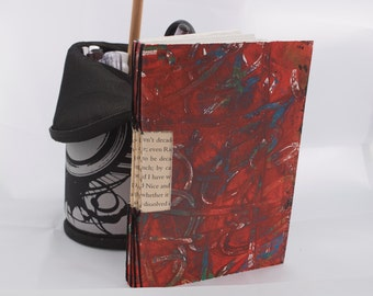 Red Exposed Spine note book