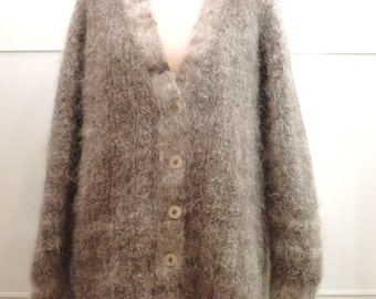 Hand knit dog wool jacket