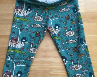 READY TO SHIP Crocodiles for T Organic baby leggings 12 - 18 months by RBLeggings