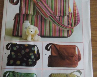 Sewing pattern Butterick 4560 Diaper bags new uncut