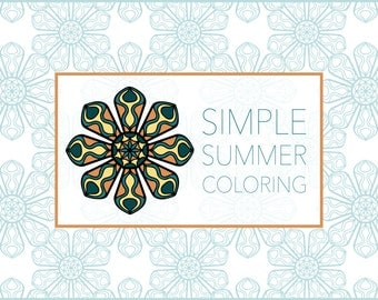 Simple Summer Coloring: 10 Original Designs