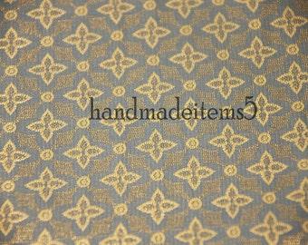 Tela oro azul por yarda, tela de seda, tela de la boda, seda India, tela del brocado de seda nupcial, vestidos de seda del brocado de seda pura
