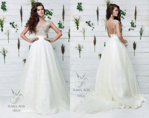Bridal Gown NISSAL Wedding Dress Unique By RaraAvisAngeEtoiles