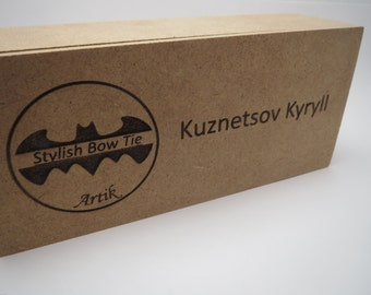 Wood box with name