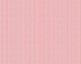 35% off - 2 yards Riley Blake Designs Backyard Stripe Pink C5296-PINK