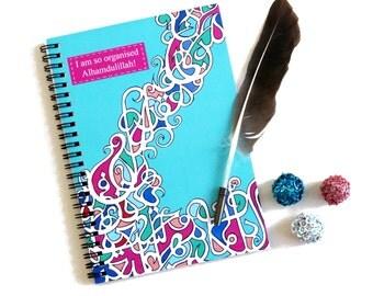 Islamic Notebook, A5 Planner, Organiser, Journal