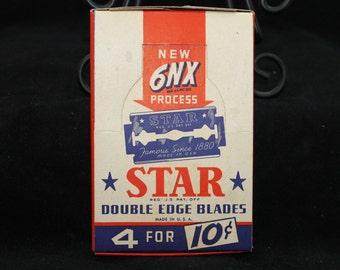 Pack of  4 Vintage Star Razor Blades.