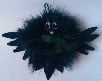 Raven/Crow Hanging Festive Decoration (Furr-Balls)