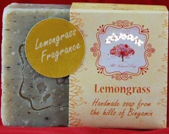 Natural ALL 100% Handmade Organic soap Lemongrass village made
