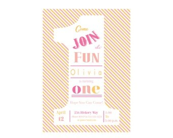 The Big One DIY Printable First Birthday Party Invitation