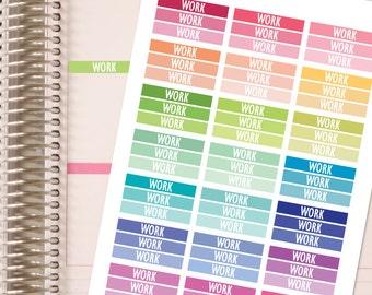 Planner Stickers -Work Headers - Fits Erin Condren and Happy Planner