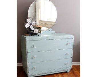 Blue Dresser, Changing Table