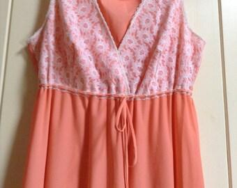 Vintage Nylon Nightdress/evening dress/1960s/size 10/12