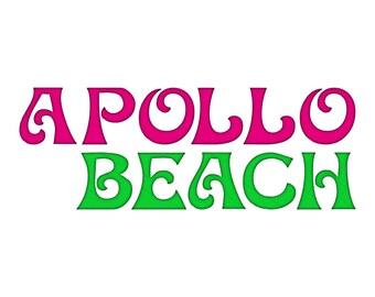 Apollo Beach Machine Embroidery Font Monogram Alphabet - 3 Sizes