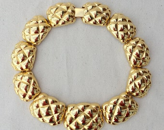 1980's Golden Glamour Necklace