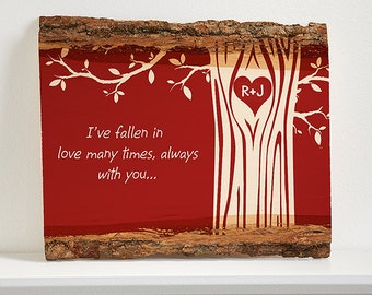Carved in Love Personalized Basswood Plank