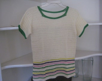1950's sweater knitted /short sleeve sweater 1950's