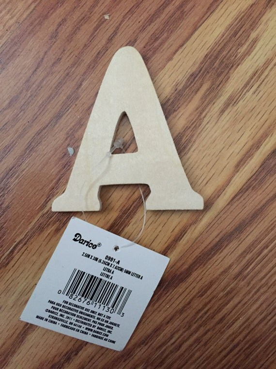 unfinished wood letter letter a darice 3 inch letter a With 3 inch unfinished wood letters