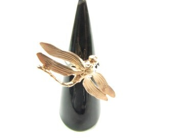 925 Silver Dragonfly ring