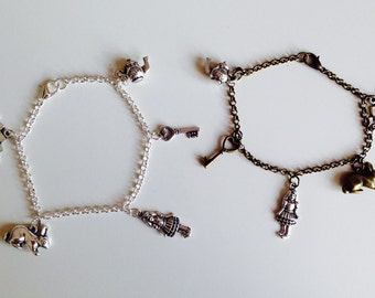 Sale | Alice In Wonderland | Rabbit Key | Heart | Cards | Girl | Pretty | Charm | Bracelet