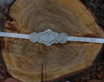 GRACE- Rhinestone Bridal Headpiece or Belt
