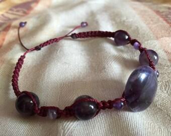 Macramé Amethyst Bracelet