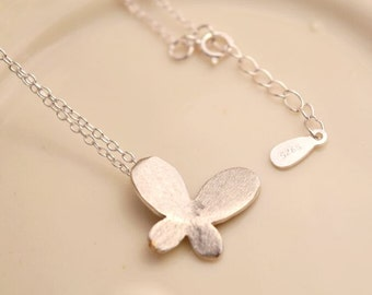 sterling silver butterfly necklace delicate necklace animal necklace simple necklace everyday necklace