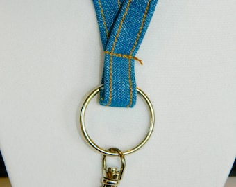 Denim Fabric Lanyard
