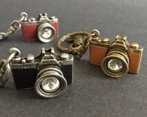 Vintage Camera Keychain,Vintage Camera Keyring,handmade keychain, photographer keychain, photography gift, keychain for men,gift for man