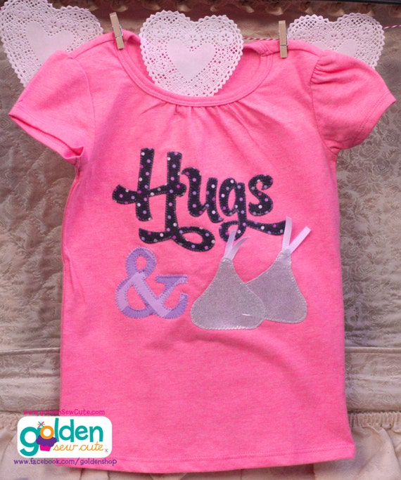 Valentine's Day Hugs and Chocolate Kisses Tee