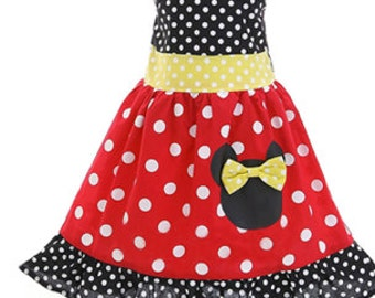 Minnie Mouse Dress, Disney Dress, Minnie Mouse Birthday Outfit