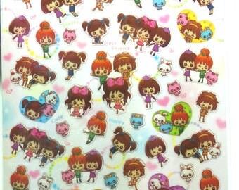 Cute Girls Stickers