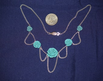 Blue Rose Choker
