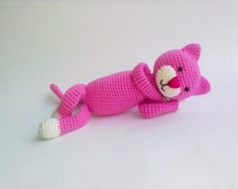 Amineko Crochet Cat Crochet toy Amigurumi Stuffed animals Handmade Baby toy Love, Birthday Mothers Day Gift for Mom