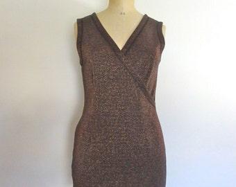 Vintage 90s dress lurex minimalist party club disco minidress size M