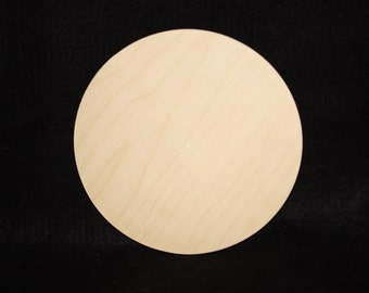 "6"" Wood Circle Cutout, Wooden Circle Cutout,Wood Circle Cut Out,Small Wood Circle,Unfinished Small Wood Circle,Small Wooden Circle Disc"