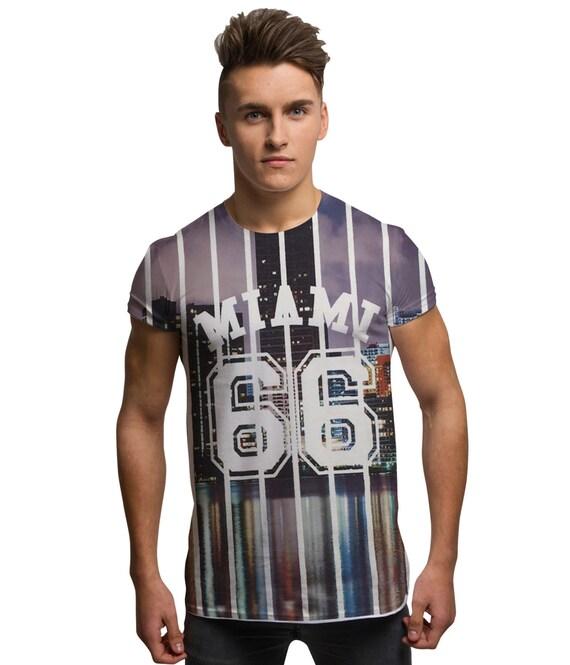 All over print miami graphic t shirt florida america for Miami t shirt printing