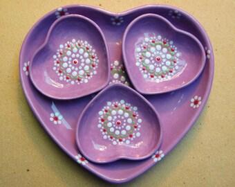 Heart bowls set