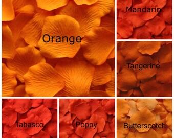 Orange Silk Rose Petals, 300 petals