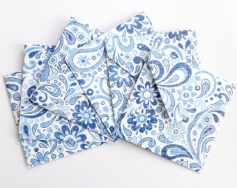 Floral Blue and White Mini Envelopes, Handmade Envelopes, Square Envelopes, Love Note, Gift Card, Mini Note Cards, Blank Cards