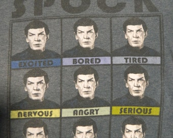 "navy ""The Many Moods Of Spock"" t-shirt"