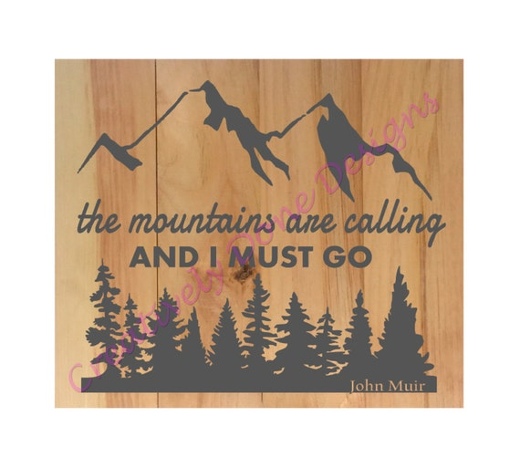 Items similar to pallet sign diy the mountains are for The mountains are calling and i must go metal sign