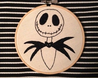 Jack Skellington Embroidery Hoop
