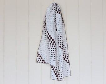 Brown and Cream Polka Dot Scarf