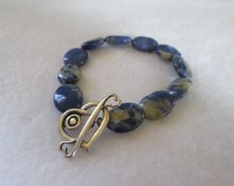 The Sodalite Heart Bracelet