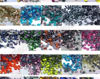 7200 Pcs SS10/ss16/ss20 Facets Iron On Hotfix Flatback Crystal Glass Rhinestones Korean Quality
