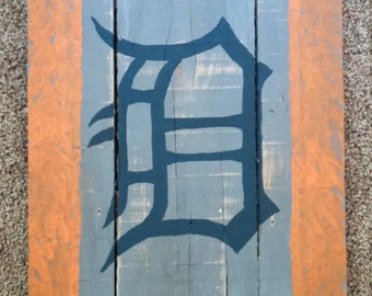 Detroit tigers wall hanging