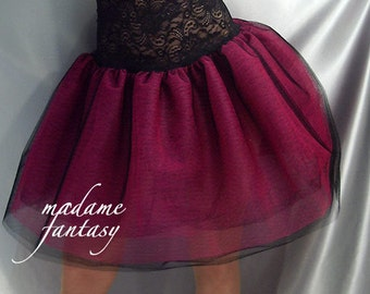 Lace top tutu Net skirt Black Pink