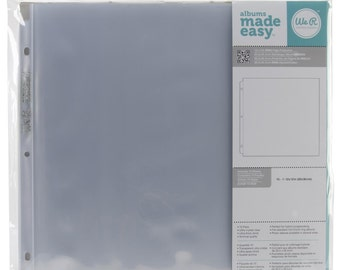"""Ring Page Protectors 12""""X12"""" 10/Pkg"""